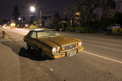 1975 Ford Mustang II (Curtis Gregory Perry) Tags: portland oregon ford mustang ii 2 1975 night longexposure tacoma street sellwood nikon d800e ghia natë gau ноч нощ nit noc nat νύχτα notte nakts naktis noite lejl natt ночь éjszaka נאַכט रात 夜 夜晚 đêm gece nag usiku dare bosiu gabii gabi wengi alina malam po
