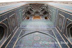Yazd's Jameh mosque (10b travelling) Tags: city ceramic persian asia asien desert iran middleeast persia mosque oasis tiles asie iranian masjid jame yazd 2014 zoroastrian neareast moyenorient naherosten jameh mittlererosten tenbrink carstentenbrink westernasia iptcbasic 10btravelling