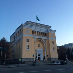 downtown Almaty ( drl) Tags: mountains mosque centralasia kazakhstan steppes almaty astana