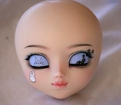 Totoro Pullip Makeup Commission (Nina's Doll *MAKEUP COMMISSION CLOSED*) Tags: doll ooak makeup carving full totoro mio groove ghibli pullip custom fc custo sculpted modded faceup modd ninadoll fullcusto makeitown ninasdoll