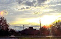 Tom Sawyer State Park Sunset (EX22218) Tags: park blue trees light orange clouds twilight sundown dusk kentucky sunsets louisville backlit wtmw tomsawyerpark magicsky flickrsbest flickrelite