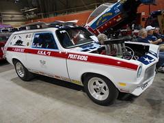 1972 Chevy Vega Kammback (splattergraphics) Tags: wagon panel chevy 1972 vega carshow harrisburgpa stationwagon motorama dragcar kammback v8vega pafarmshowcomplex poustracing