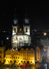 Prague, view from the Old Town Hall tower (alh1) Tags: city tourism spring prague praha handheld czechrepublic oldtown oldtownsquare oldtownhall star msto churchofourladybeforetn starmstoprask