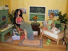 Girls Knit/Crochet Day #1 (Vicki02000) Tags: barbie diorama
