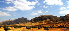 Rooniz Mountain (3) (Mahmoud R Maheri) Tags: sky mountain clouds landscape iran fars figtrees rooniz