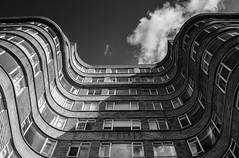 Florin Court (farukb) Tags: london art monochrome architecture buildings court christie deco agatha poirot florin