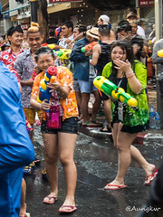 Songkran Water Festival (Aung@) Tags: new sea water festival thailand bangkok traditional year olympus thai splash joyful omd songkran silom 2016 mzuiko em5mk2 em5mkii 14150mmii