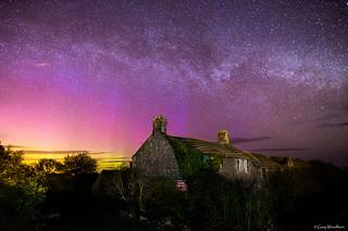 Back Garden Aurora - Aurora Borealis & Milky Way, Embleton, Northumberland
