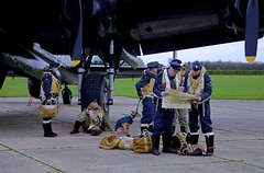 'Dispersal' (andrew_@oxford) Tags: heritage force aviation air events royal lincolnshire east 1940s lancaster timeline bomber command raf avro aircrew kirkby