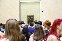 Louvre (NataliaMaverakis) Tags: travel people paris france painting la europe day louvre crowd perspective lisa mona tourists wanderlust adventure explore da western vinci