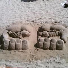 Escultura em areia (leonilde_bernardes) Tags: