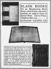Blank Books (UH Manoa Library) Tags: news history vintage hawaii newspaper ad books historic advertisement historical microfilm dns digitization digitisation chroniclingamerica ndnp