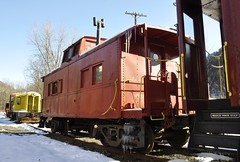 Phoenicia, New York (4 of 24) (Bob McGilvray Jr.) Tags: ny newyork train display steel tracks caboose cupola static phoenicia empirestaterailroadmuseum