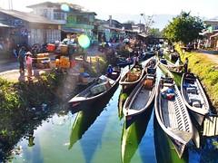 Nyaung Shwe - Boats (sharko333) Tags: voyage travel people boat asia asien burma olympus vehicle myanmar inlelake asie birma reise shanstate em5 lakeinle nyaungshawe