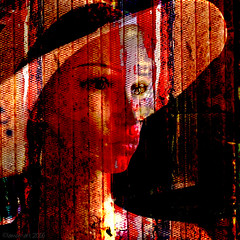 In The Red Spotlight (Lemon~art) Tags: light red texture mannequin face hat manipulation cage enteredinsyb lookingintothecage