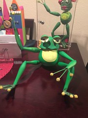 Knott's Bear-y Tales Frog (prop from ride) (Althegamefreak) Tags: vintage disney retro frog blacklight flourescent prop knotts knottsberryfarm darkride knottsbearytales rollycrump knottsberrytales