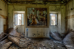 MG-5 (StussyExplores) Tags: italy abandoned stairs italian barrels decay olive grand mg explore villa oil mansion exploration derelict fresco cellar ceilings urbex