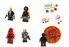 Onlinesailin Recent Releases: Part 27 (Silent Shane) Tags: batcave lego donuts superhero minifigs custom daredevil elektra punisher