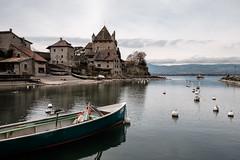 Yvoire (Bob03C) Tags: port lac savoie chateau barque laclman yvoire classicchrome