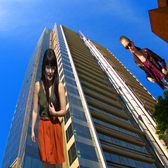 You Fell Down (swong95765) Tags: sky building look women view perspective pointofview