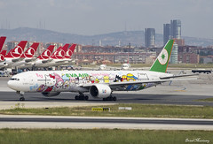 EVA Air (Hello Kitty Sanrio Family Livery) 777-300(ER) B-16703 (birrlad) Tags: hello family colour turkey airplane airport eva ataturk taxi aircraft aviation air airplanes kitty istanbul sanrio climbing international airline taipei boeing airways airlines scheme departure ist takeoff 777 runway decals airliner titles departing rotate livery taxiway b777 777300er b773 b16703 77735eer br80