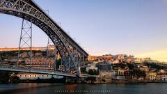 Blazing Colors (Luciano_de_Castro) Tags: bridge sunset portugal beautiful canon river photography golden europa europe cityscape porto hour douro fotografia t6s 760d