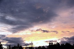 Skyglitch (Apollo51x) Tags: light sunset sky sun weather skyline clouds rural sunrise canon skyscape dawn solar colorful skies cityscape shadows spectrum atmosphere spirits ciel lensflare waterville cielos nuage cloudscape cloudformations skysolar