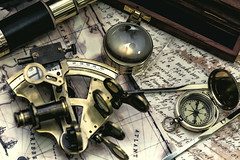 Steampunk (Robert Bjrkn (Hobbyfotograf)) Tags: vintage pirate steampunk sextant nautic