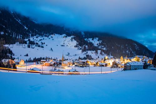 Bergün at Night