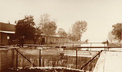 Canal, Portage Locks at High Water, Probably 10-11-1911