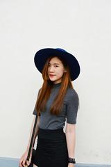 DSC_3744 (Likeabyul) Tags: china portrait paris france fashion french asian chinese style korean hm asiangirl asos frenchblogger fashionblog widebrimmedhat fashionblogger highnecktop stylenanda
