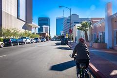Cycling the streets of Tucson, Arizona.