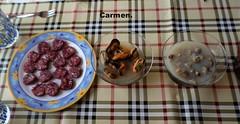 PICA PICA. (Carmen Cordero Olivares.) Tags: casa carmen aperitivo almejas fuet musclos
