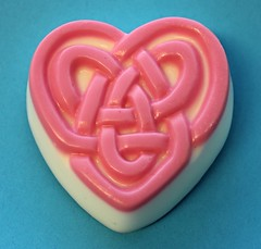 Celtic Heart $3.00 (Clelian Heights) Tags: irish heart celtic soaps celticknot unscented decorativesoaps cleliansoaps