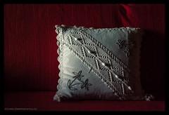 Study of a pillow (s1nano) Tags: light shadow red stilllife white pillow sofa helios442 pentaxk10d pentaxk10dtakis