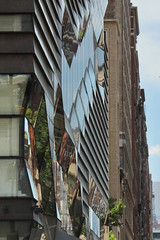 Downtown Geometry (lefeber) Tags: city nyc newyorkcity urban newyork abstract reflection geometric architecture modern buildings downtown angles