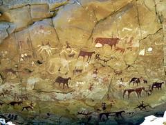 Prehistoric Rock Paintings (D-Stanley) Tags: africa mountains rock chad paintings cave prehistoric manda ennedi guéli