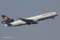 D-ALCL - 2000 build McDonnell Douglas MD11F, climbing on departure from Runway 07L at Frankfurt (egcc) Tags: frankfurt main cargo lh douglas lufthansa fra dlh freighter md11 gec mcdonnelldouglas md11f 644 eddf lufthansacargo 48804 dalcl