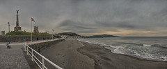 Aberystwyth Pano (Dan Augood) Tags: panorama beach wales seaside europe pano united kingdom aberystwyth autopano