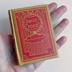 "Vintage Miniature Bible Verse Book ""Daily Food"" - Antique Hardback Devotional Pocket Book (karalennox) Tags: vintage book miniature antique mini bible etsy devotional verse hardback dailyfood"
