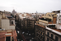 From the roof of La Pedrera-Casa Mil (kendall.plant) Tags: barcelona city travel urban architecture spain europe moody wanderlust gaudi vsco