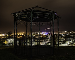 Bandstand (jonsomersphotos) Tags: park longexposure urban streets night dark cityscape plymouth bandstand incinerator terracedhouses