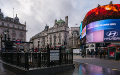A Damp Piccadilly Circus ( Panasonic Lumix LX100) (markdbaynham) Tags: leica city urban london westminster buildings lens lumix lights neon view zoom circus famous capital central piccadilly panasonic fixed metropolis dmc 43rd compact 43 lx fourthirds evf lx100 2475mm f1728 lumixer