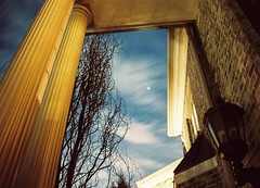Jupiter On the Front Door (marcporgy) Tags: new sky film night clouds stars kodak 28mm olympus astrophotography planet jersey astronomy jupiter portra vivitar 800 om1
