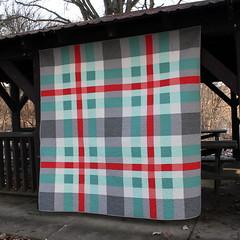 Tartan Quilt Front (Modern Quilting by B) Tags: robert modern quilt linen solids patchwork plaid essex kona tartan kaufman