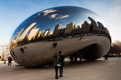 Mirror Image (MareksPhoto) Tags: chicago us illinois unitedstates bluesky bean millenniumpark cloudgate downtownchicago