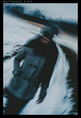 I am cold (mripp) Tags: street old school schnee winter snow color art glass weather vintage landscape outside 50mm pain warm kunst sony retro full frame temperature cloth f18 kalt landschaft rund painful pentagon circular wetter schmerz zentral strase vollformat