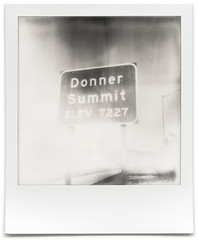 tastes like chicken. donner summit, ca. 2015. (eyetwist) Tags: california winter bw usa white black mountains classic film monochrome sign analog america vintage project logo wagon polaroid sx70 typography blackwhite highway pass roadtrip icon beta ishootfilm sierra spots numbers american 600 freeway signage summit type instant modified roadsign interstate analogue 20 i80 roadside elevation streaks 80 gen pioneer generation 1848 cannibalism impossible donner truckee typographic emulsion landcamera tasteslikechicken polaroidsx70 instantgratification flaws donnerparty donnersummit 7227 testfilm eyetwist typologies generation20 eyetwistkevinballuff impossibleproject signgeeks impossiblebwgen20beta