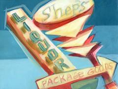 shep's liquors and package goods (EllenJo) Tags: art sign painting az liquor sheps verdevalley 2016 acryliconcanvas localcharacter ellenjo oldtowncottonwood ellenjoroberts january2016 abeaconofoldtown april2016artshow oldtowncottonwoodartshow