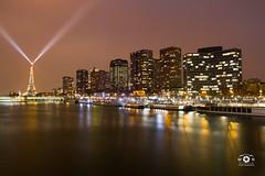 City of Lights #2 (Mika__) Tags: city urban paris france tower buildings pose boats lights long exposure cityscape eiffel bateaux paysage lanscape ville lumieres urbain longue peniches